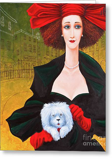 Toto Greeting Cards - Amsterdam Georgia and Toto Greeting Card by Igor Postash