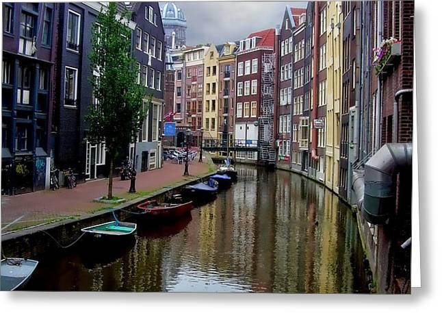 Amsterdam Greeting Card by Heather Applegate