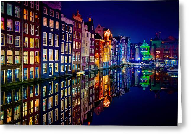 Wallpaper Greeting Cards - Amsterdam Greeting Card by Juan Pablo Demiguel