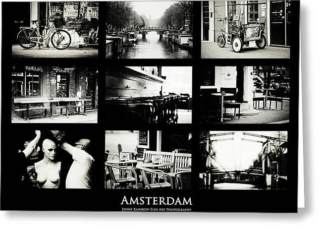 Amsterdam Mix. Amsterdam By Jenny Rainbow Greeting Card by Jenny Rainbow