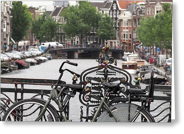 Amsterdam Greeting Card by Rona Black