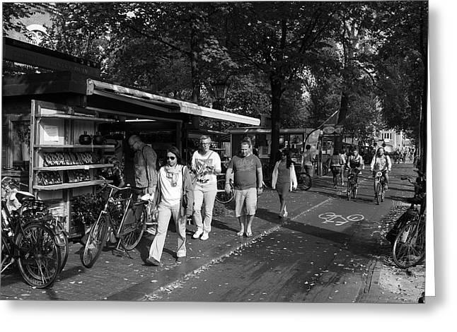Buy Goods Greeting Cards - Amsterdam Street Market Greeting Card by Aidan Moran