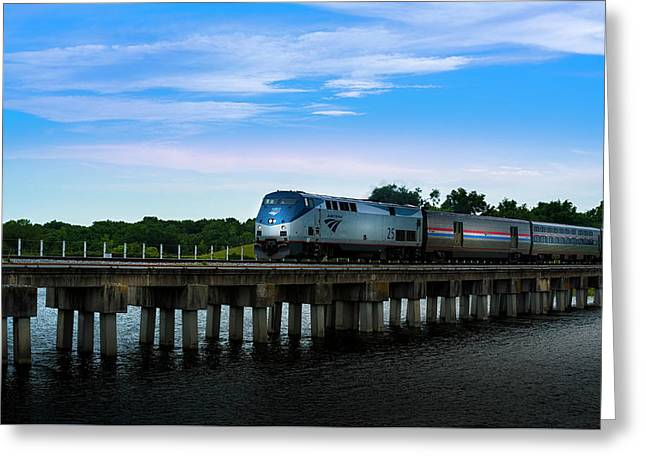 Amtrak 25 Greeting Card by Marvin Spates