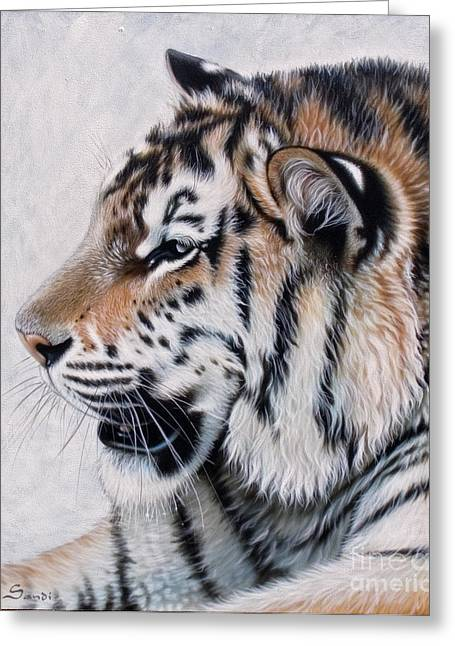 Acrylic Greeting Cards - Amur Greeting Card by Sandi Baker