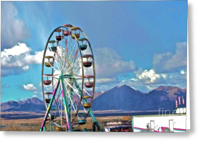 Amusement View Greeting Card by Gwyn Newcombe