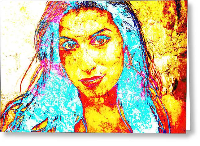 Unique Art Greeting Cards - Amy Greeting Card by Jose Espinoza