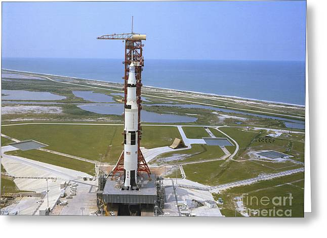 Astronautics Greeting Cards - An Aerial View Of The Apollo 15 Greeting Card by Stocktrek Images