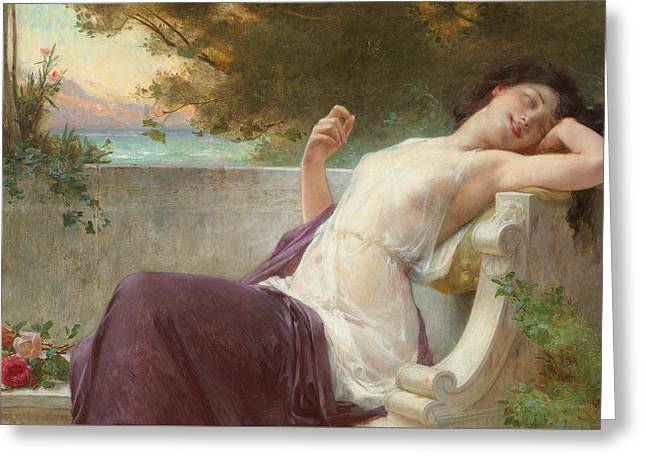 An Afternoon Rest Greeting Card by Guillaume Seignac
