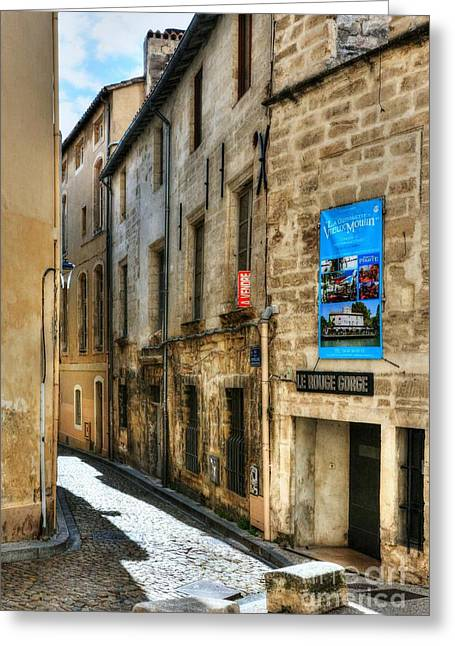 Southern France Greeting Cards - An Alley In Avignon 2 Greeting Card by Mel Steinhauer