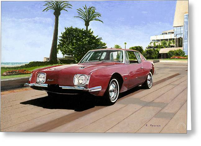 Cannes Greeting Cards - An American In Cannes Greeting Card by Richard Herron