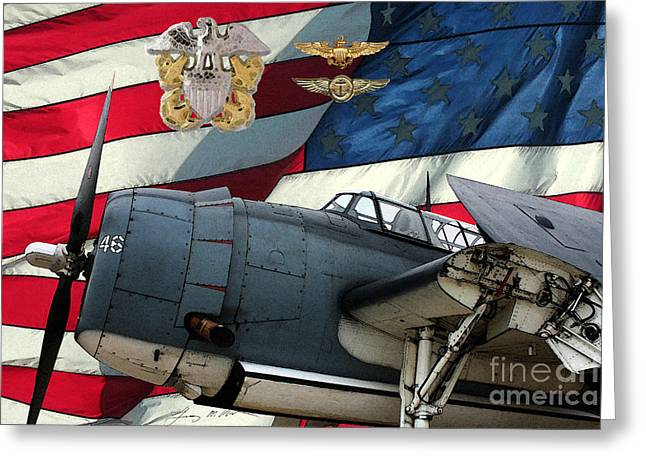 Tbf Greeting Cards - An American TBF Avenger POF Greeting Card by Tommy Anderson