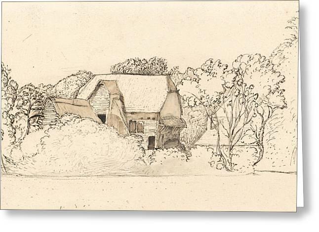 An Ancient Barn At Shoreham Greeting Card by Samuel Palmer
