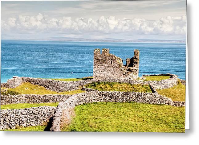Aran Islands Greeting Cards - An Ancient Irish Castle Greeting Card by Natasha Bishop