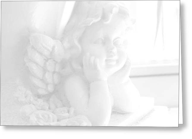 Heaven Dieing Greeting Cards - An Angel Awaits Greeting Card by Beauty For God