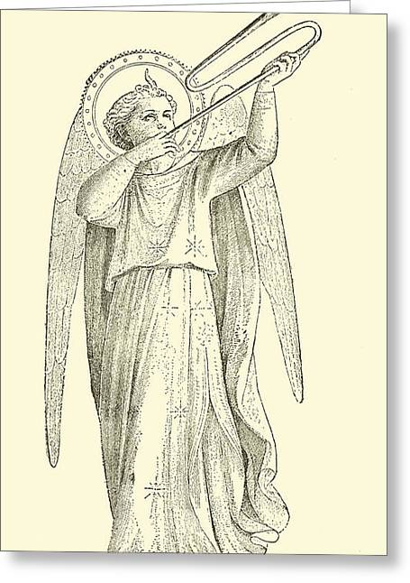 An Angel Greeting Card by Fra Angelico