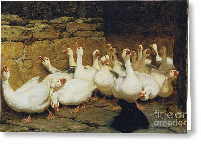 An Anxious Moment Greeting Card by Briton Riviere