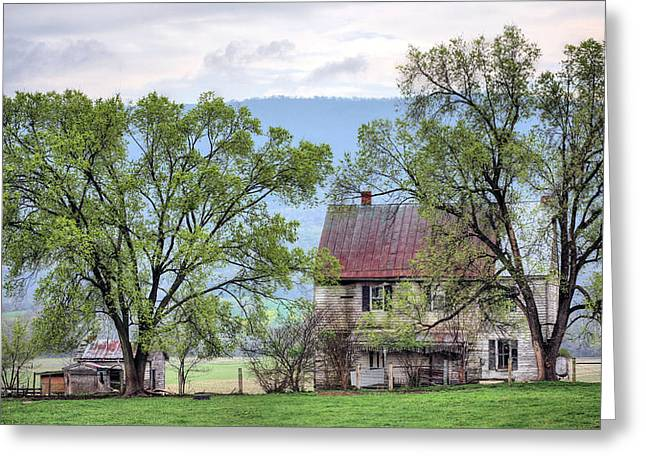 Tin Roof Greeting Cards - An Appalachian Homestead Greeting Card by JC Findley
