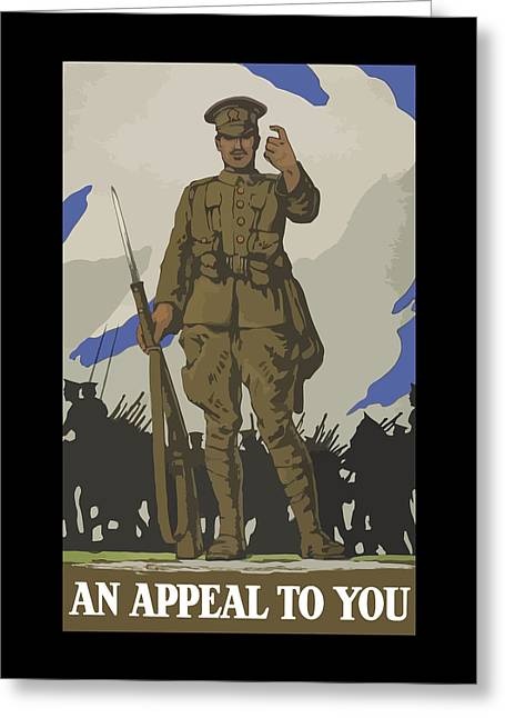 An Appeal To You Greeting Card by War Is Hell Store