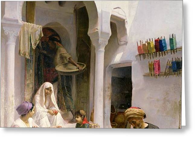 An Arab Weaver Greeting Card by Armand Point