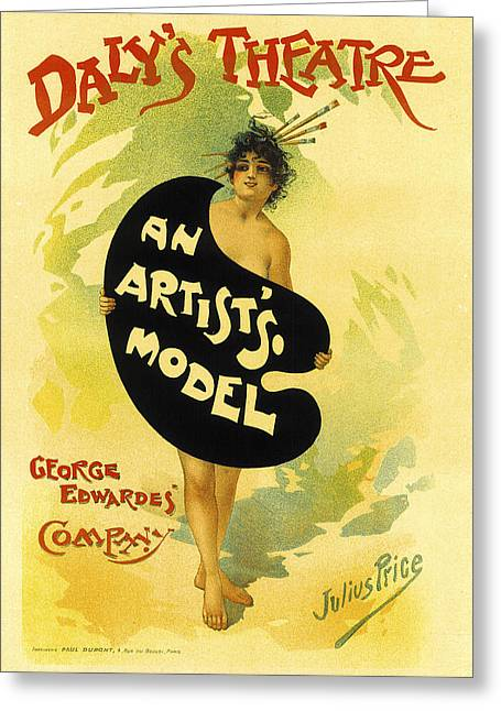 Artists Model Greeting Cards - An Artists Model Greeting Card by Julius Price