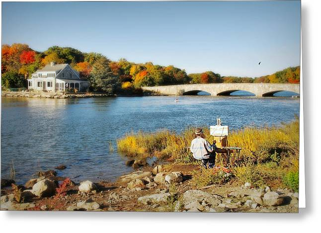 ist Photographs Greeting Cards - An Artists Rendering Greeting Card by Diana Angstadt
