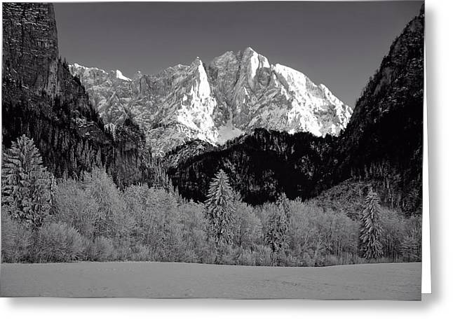 Snow-covered Landscape Photographs Greeting Cards - An Austrian Winter Wonderland Greeting Card by frank Josef