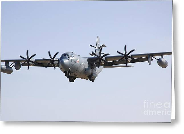 An Ec-130j Commando Solo Aircraft Greeting Card by Stocktrek Images