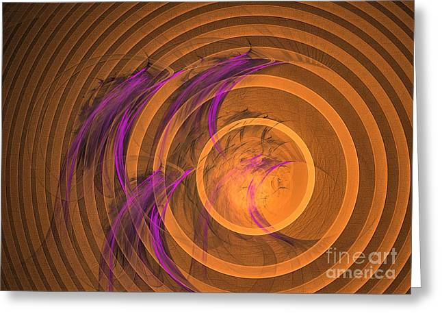 Geometric Art Greeting Cards - An echo from the past - Abstract art Greeting Card by Sipo Liimatainen