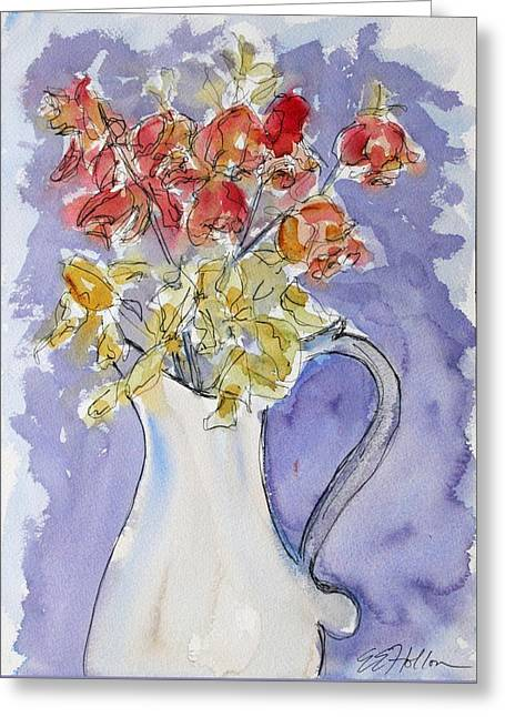 Impressionist Greeting Cards - An Elegant Death Greeting Card by Erin Hollon