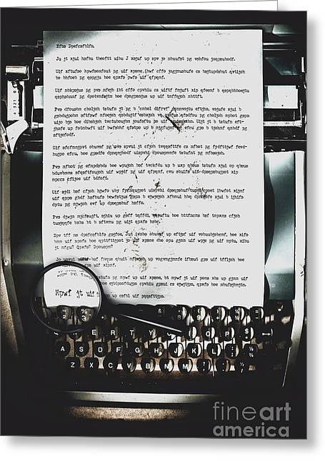 An Encryption To Break The Oppression Greeting Card by Jorgo Photography - Wall Art Gallery