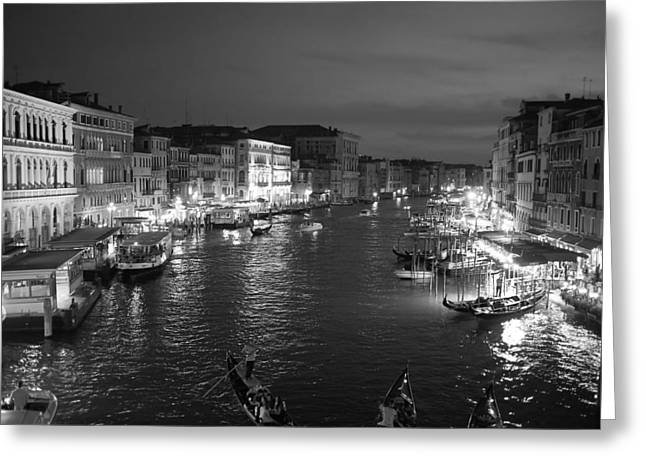 Italian Restaurant Greeting Cards - An Evening In Venice Greeting Card by Unsplash
