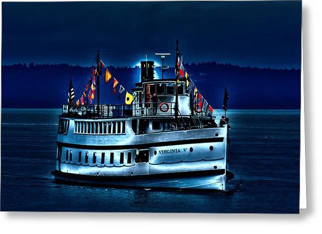 Tall Ships Greeting Cards - An Evening on the Virginia V Greeting Card by David Patterson