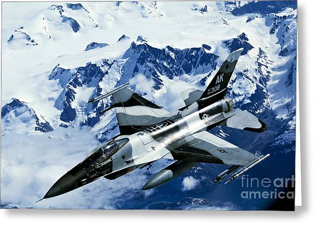 An F-15c Falcon From The 18th Aggressor Greeting Card by Stocktrek Images