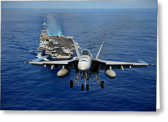 Horne Greeting Cards - An F A-18E Super Horne Greeting Card by Celestial Images