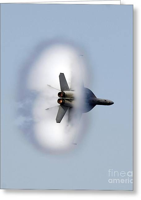 F-18 Greeting Cards - An Fa-18f Super Hornet Completes Greeting Card by Stocktrek Images