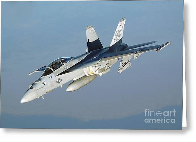 An Fa-18f Super Hornet Conducts Greeting Card by Stocktrek Images