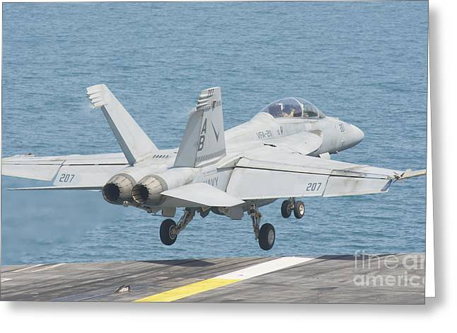 211 Greeting Cards - An Fa-18f Super Hornet Taking Greeting Card by Giovanni Colla