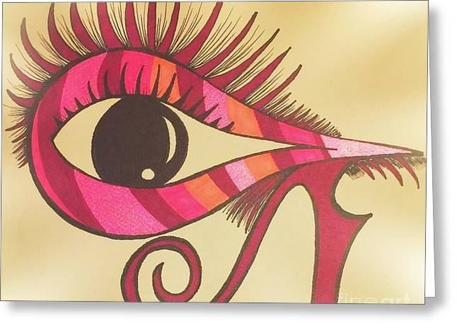 An Horus Twist Greeting Card by Angie Oviedo