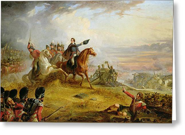 An Incident At The Battle Of Waterloo Greeting Card by Thomas Jones Barker