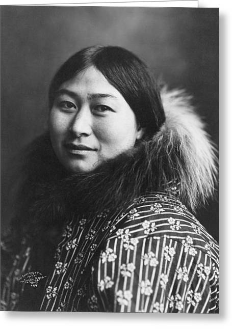 Nome Greeting Cards - An Inuit woman from Nome  Alaska Greeting Card by Celestial Images