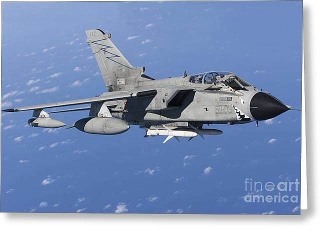 Civil Aviation Greeting Cards - An Italian Air Force Tornado Ids Armed Greeting Card by Gert Kromhout