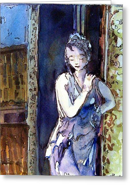 An Italian Violet Greeting Card by Mindy Newman