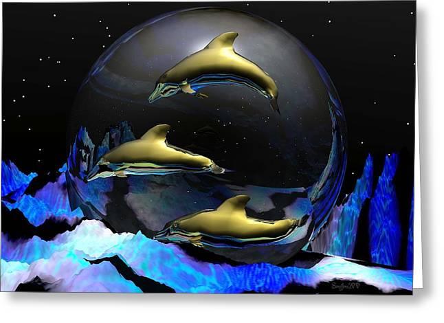 Wildlife Disasters Greeting Cards - An Ocean Full Of Tears Greeting Card by Robert Orinski