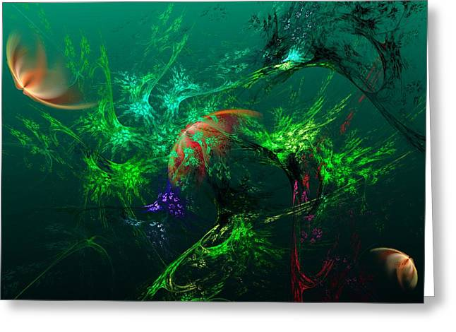 Under The Sea Greeting Cards - An Octopuss Garden Greeting Card by David Lane