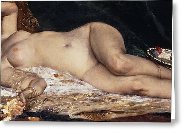 An Odalisque Greeting Card by Ferdinand Roybet