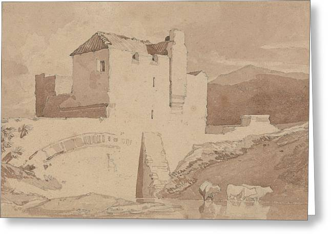 An Old Building Greeting Card by John Sell Cotman