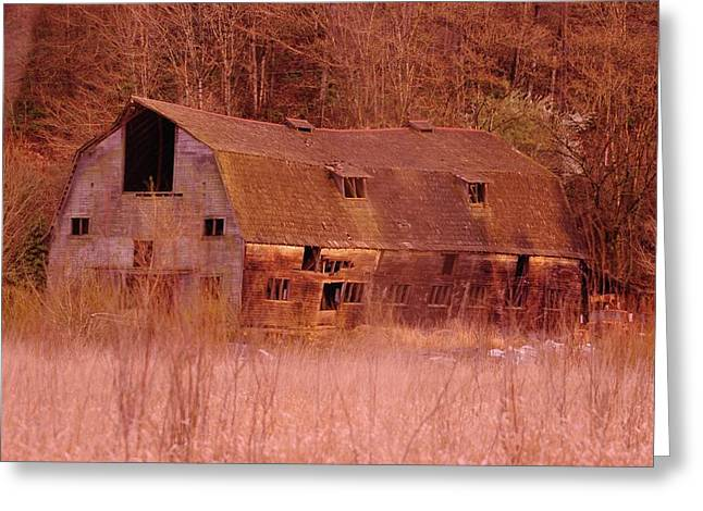 Expired Greeting Cards - An Old Dairy Barn  Greeting Card by Jeff  Swan