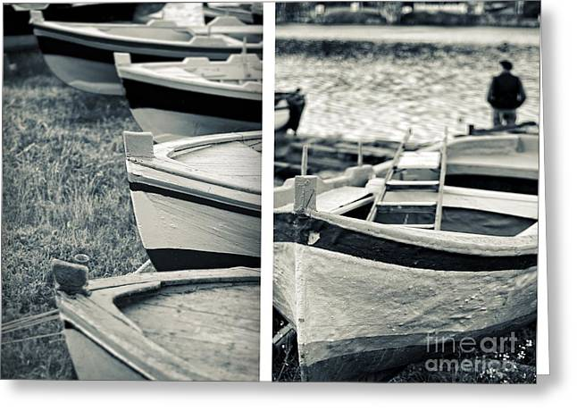 Silvia Ganora Greeting Cards - An old mans boats Greeting Card by Silvia Ganora