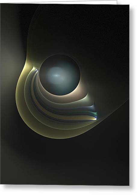 Fractal Orbs Greeting Cards - An Orb Greeting Card by Richard Ortolano
