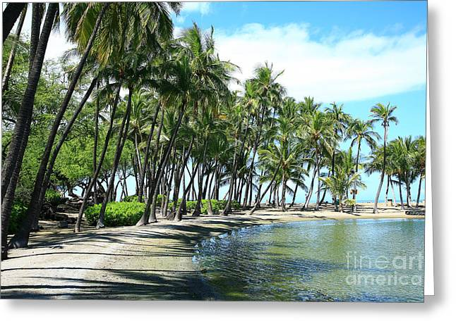 Peter French Greeting Cards - Anaehoomalu Bay fishponds Greeting Card by Peter French - Printscapes